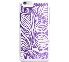 Linear Flow - Purple Fade iPhone Case/Skin