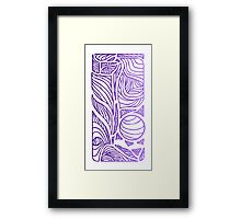 Linear Flow - Purple Fade Framed Print