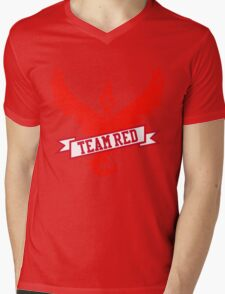 Team Red - Pokemon GO Mens V-Neck T-Shirt