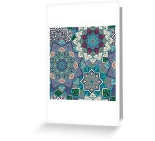Purple & Blue Boho Mandela Pattern Greeting Card