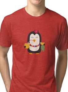 Hawaii Penguin   Tri-blend T-Shirt