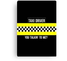 Taxi Driver Robert De Niro Travis Bickle Quote Minimalist Martin Scorsese Canvas Print