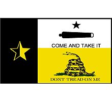 Texas Anarchist Flag Photographic Print