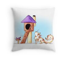 Cat Condo Housewarming Throw Pillow