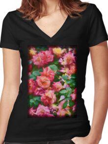 Rose 367 Women's Fitted V-Neck T-Shirt