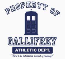 Property of Gallifrey Athletics One Piece - Short Sleeve