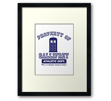 Property of Gallifrey Athletics Framed Print