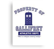 Property of Gallifrey Athletics Canvas Print
