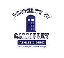 Property of Gallifrey Athletics Photographic Print