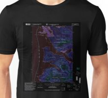 USGS TOPO Map Alaska AK Sitka B-2 359101 2000 63360 Inverted Unisex T-Shirt