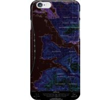 USGS TOPO Map Alaska AK Sitka B-2 359101 2000 63360 Inverted iPhone Case/Skin