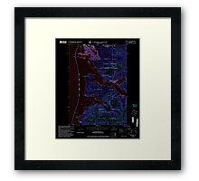 USGS TOPO Map Alaska AK Sitka B-2 359101 2000 63360 Inverted Framed Print