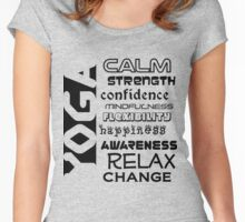 Yoga benefits (black text) Women's Fitted Scoop T-Shirt