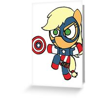 Jumping Captain Equestria Greeting Card