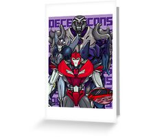 Decepticons, Rise Up! Greeting Card