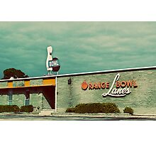 orange bowl lanes Photographic Print