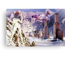New Terrain on a Welsh Mountainside in Mid-Winter. Canvas Print
