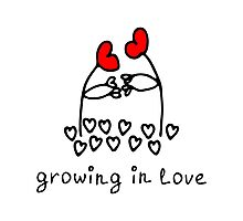 Growing in love Photographic Print