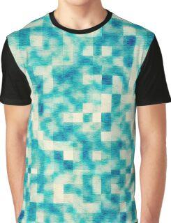Seafoam Blurry Squares Graphic T-Shirt