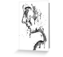 The Weeping Lady: Black & White Greeting Card