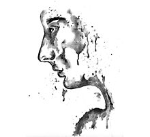 The Weeping Lady: Black & White Photographic Print