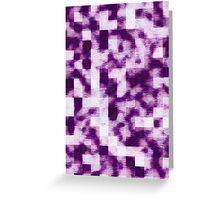 Purple Smoky Squares Greeting Card