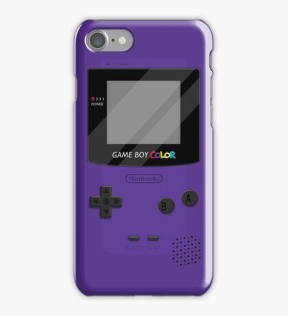 Gameboy Color 2.0 - Purple iPhone Case/Skin