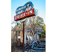 georgia girl drive-in Photographic Print