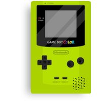 Gameboy Color 2.0 - Green Canvas Print