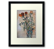 Australian flowers Framed Print