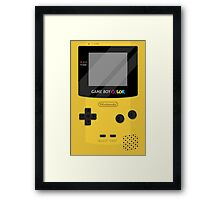 Gameboy Color 2.0 - Yellow Framed Print