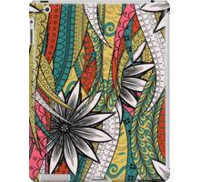 Red & Yellow Boho Floral Fantasy Pattern iPad Case/Skin