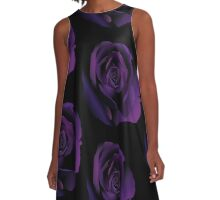 Purple Rose A-Line Dress