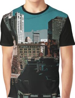 City // Comic Style Graphic T-Shirt
