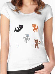 Kawaii Cats Women's Fitted Scoop T-Shirt