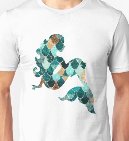 Glitter Scale Mermaid Unisex T-Shirt