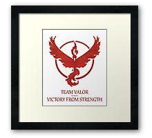 Team Valor - Victory From Strength Framed Print