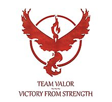 Team Valor - Victory From Strength Photographic Print