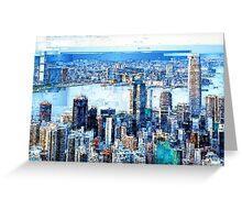 Hong Kong Skyline Greeting Card
