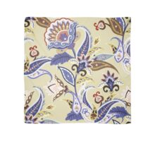 Cream & Blue Boho Floral Pattern Scarf