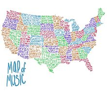 Map of Music Photographic Print