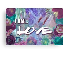 I Am Love Floral Canvas Print