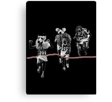 Dogs at Goal Canvas Print