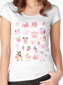 Pink Pokemon Women's Fitted Scoop T-Shirt