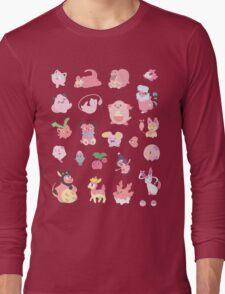 Pink Pokemon Long Sleeve T-Shirt