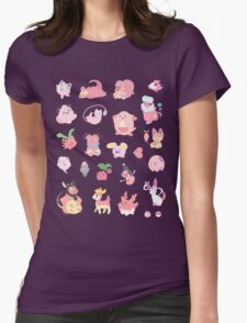 Pink Pokemon Womens Fitted T-Shirt