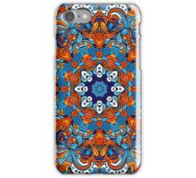 Orange & Blue Boho Mandela Pattern iPhone Case/Skin