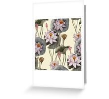 Boho Summer Floral Pattern Greeting Card