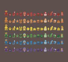 Rainbow Super Mario - Horizontal Version 1 Baby Tee