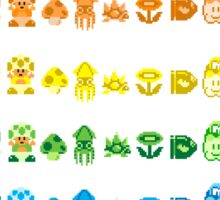 Rainbow Super Mario - Horizontal Version 1 Sticker